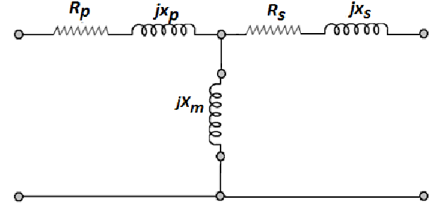 Simplified T-shaped equivalent electric circuit