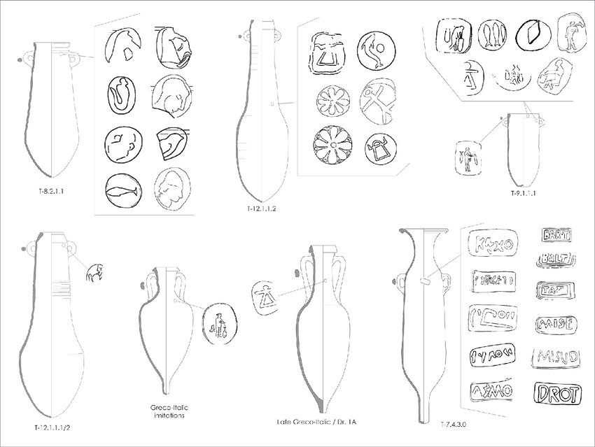 Local amphora types and iconographies and epigraphic