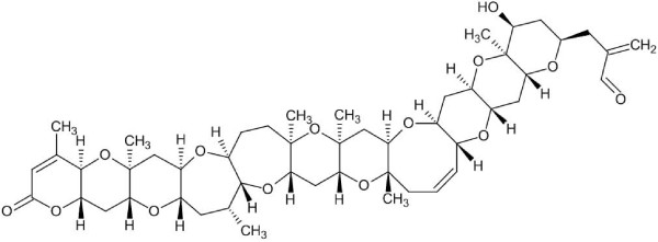 The structure of brevetoxin B. The configurations of