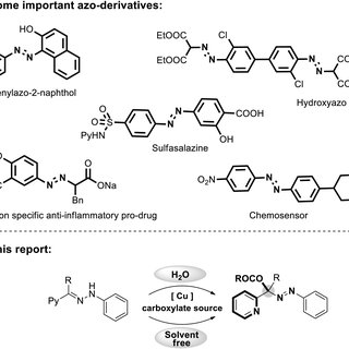 [a] Examples of important azo-compounds and [b] synthesis