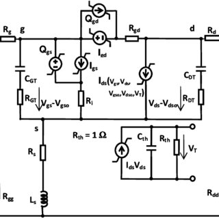 Large-signal equivalent circuit model for GaN HEMT