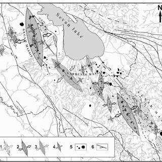 Geologic cross section of the Lesser Caucasus in Armenia