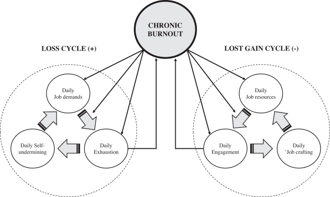 Chronic burnout: a loss cycle of daily job demands and a