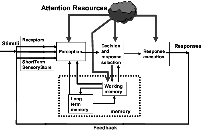 Stage Model of Human Information Processing (Wickens,1992