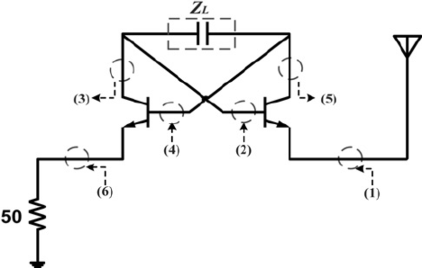Floating negative capacitor to tune monopole antenna
