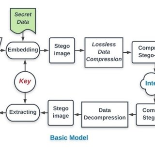 Process of embedding and extracting the secret message