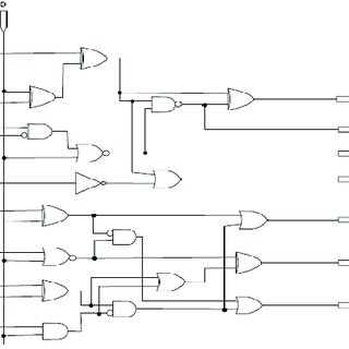 Evolved BCD-to-Seven-Segment Decoder logic diagram