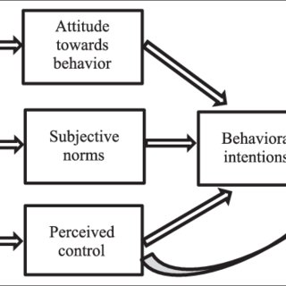 Theory of planned behaviour, with examples in relation to