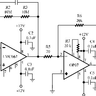 Schematic diagram of the sensitive electrometer circuit