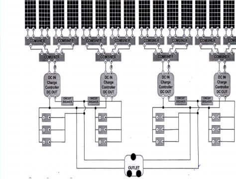 Complete Wiring Diagram of the 2kW Solar Pumping System V