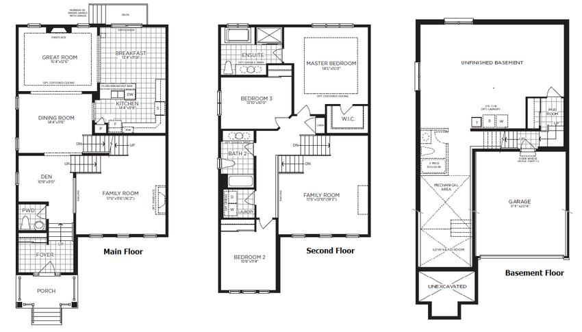 Figure A.2: Single detached house floor plans [61
