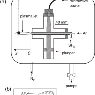 (a) Schematic diagram of the microwave plasma torch inside