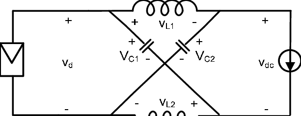 Equivalent circuit of the Z-source inverter viewed from
