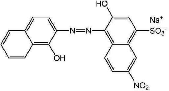 Chemical structure EBT dye Effect of contact time: Effect