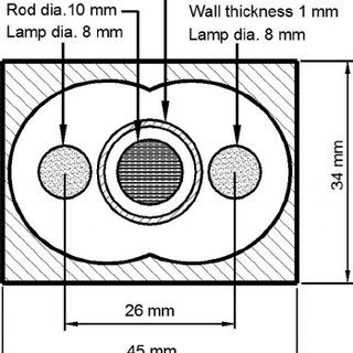 A schematic diagram of the laser pump chamber used in