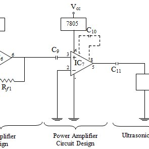 Booster Preamplifier, Amplifier and Ultrasonic Transducer