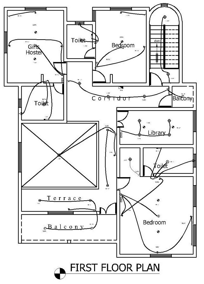 0: Electrical lighting layout design (First Floor