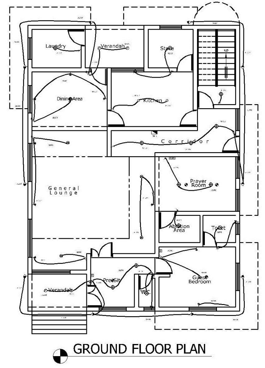 0: Electrical lighting layout design (Ground Floor