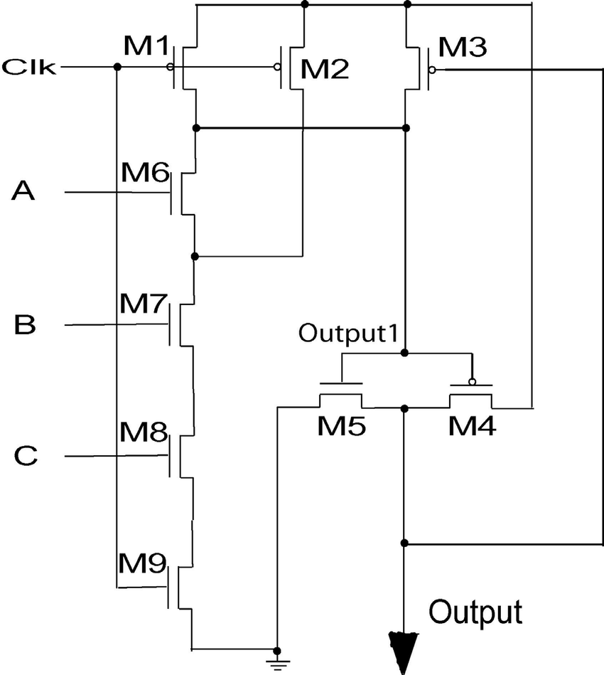 hight resolution of scheme of a domino logical circuit