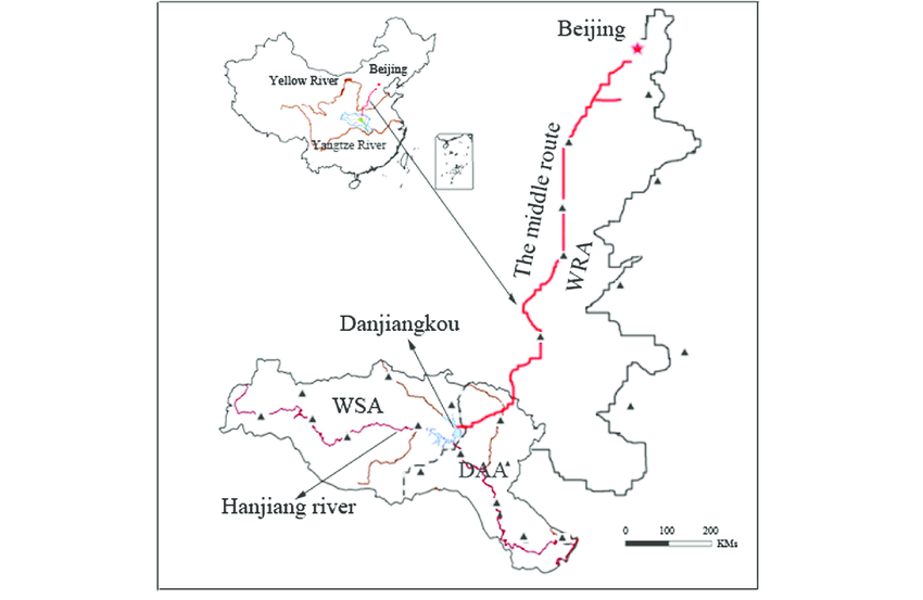 Sketch map of the middle route.