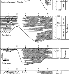 the simplified late neoproterozoic early paleozoic stratigraphic download scientific diagram [ 850 x 1570 Pixel ]