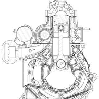 Old design of exhaust piping for diesel generator engine