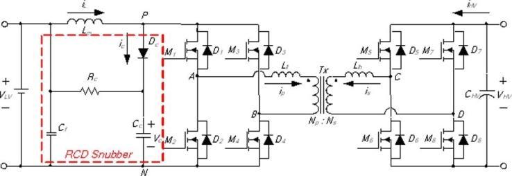 Isolated bidirectional full-bridge dc-dc converter with an