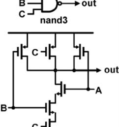a standard digital cmos nand3 gate and its internal transistor digital watch circuit diagram as well as digital transistors nand [ 850 x 1106 Pixel ]