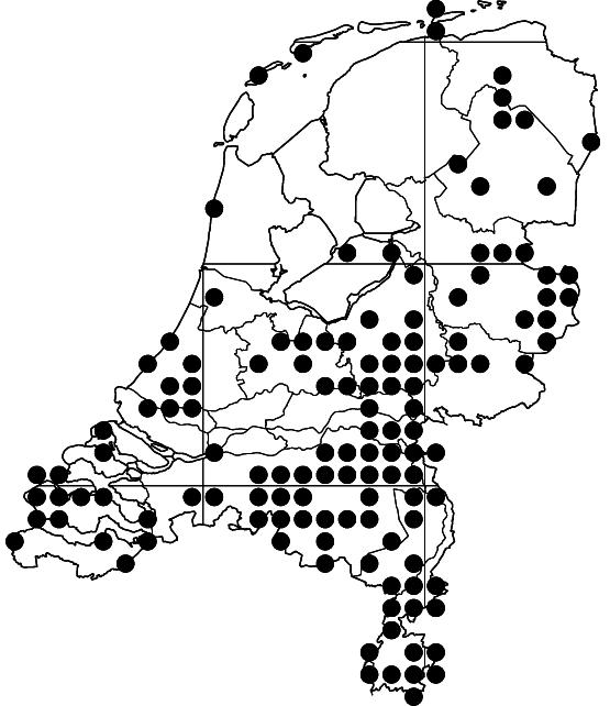 Figuur 1. Verspreiding van Graphosoma lineatum in