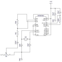 Dtmf Decoder Ic Mt8870 Pin Diagram 1995 Ford F150 Stereo Wiring Configuration Of 2 1 Circuit Unit Design Figure 6 Is The Used To Decode Mobile