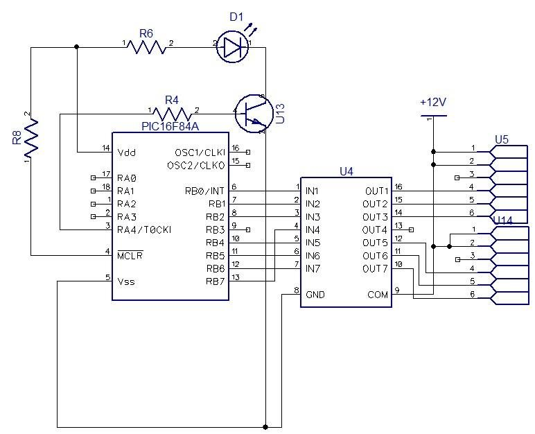 Circuit diagram of the output relay module 2.2 DTMF Tone