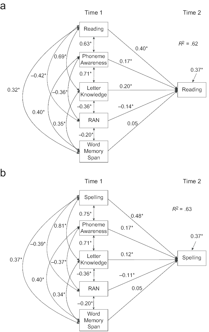 Multigroup path models predicting the growth in (a) early