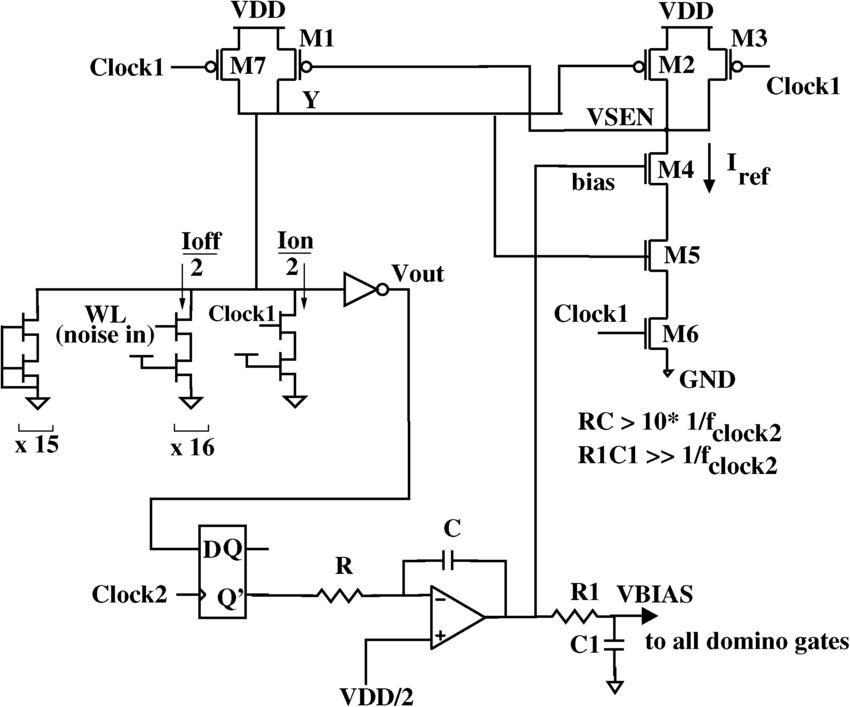 Replica bias generator for RSK circuit. The circuit
