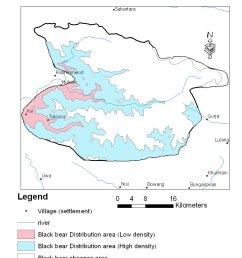 black bear distribution area in dhorpatan hunting reserve  [ 816 x 1056 Pixel ]