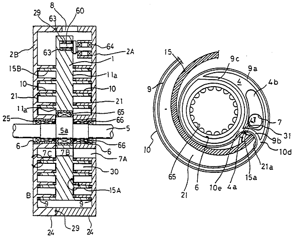 Scroll-type fluid machinery with seals for the discharge