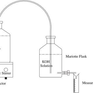 Experimental setup for biodegradability test (batch study