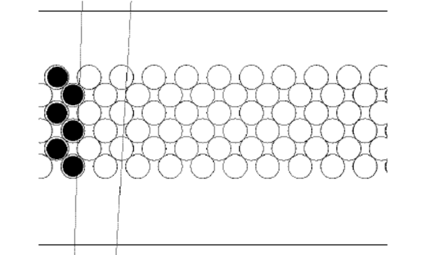 1.35mm (left) A schematic of the fibre layout in Monte