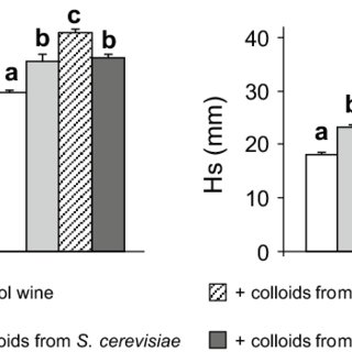 Foam parameters of synthetic and natural wines. All data