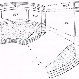 Representação esquemática do revestimento refratário de um