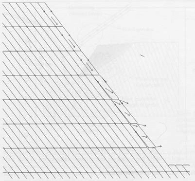 a: Failure mechanism (reverse toppling-rotation of blocks
