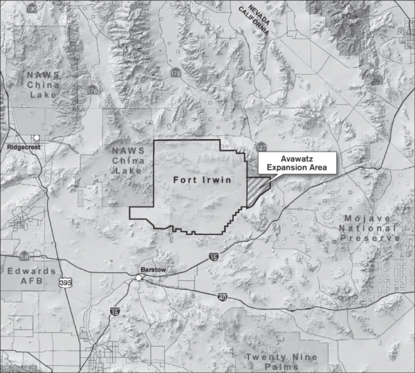 Location map of Fort Irwin and the Avawatz study area