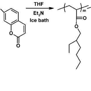 Photoreversible dimerization of 7-hydroxycoumarin