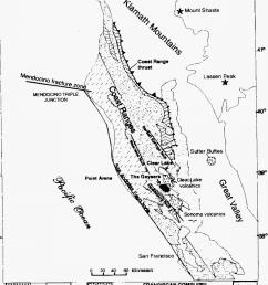 geologic map of northem california coast range with location of the download scientific diagram [ 850 x 1143 Pixel ]