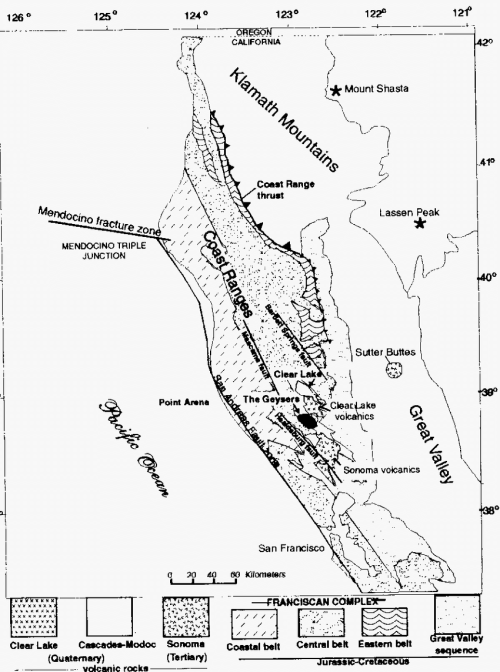 small resolution of geologic map of northem california coast range with location of the download scientific diagram