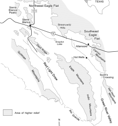 location of the study area including diablo plateau and hueco bolson and eagle flat and [ 850 x 1061 Pixel ]