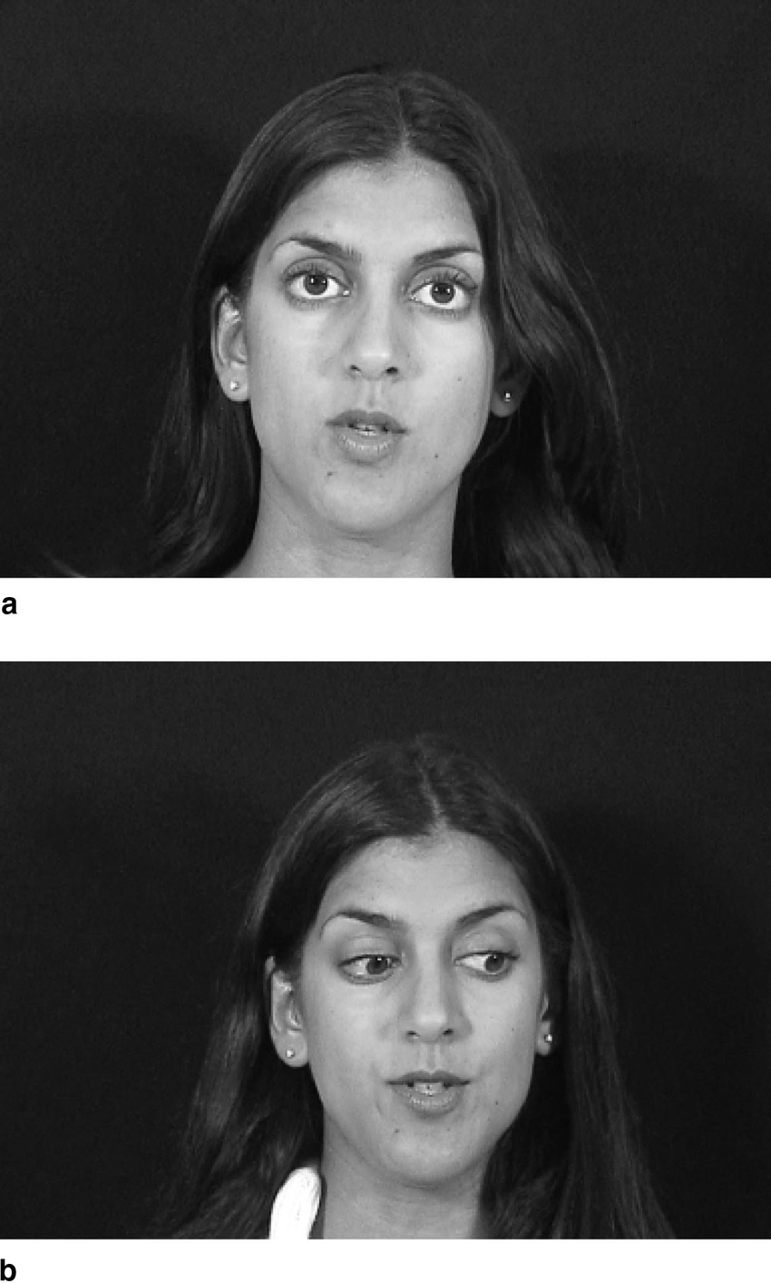 hight resolution of examples of the gaze cue in the eye contact a and gaze aversion