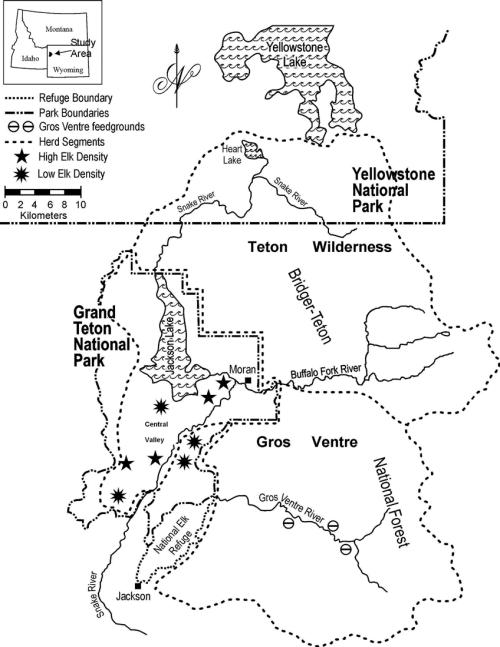 small resolution of summer herd segment boundaries of the jackson elk herd grand teton national park yellowstone
