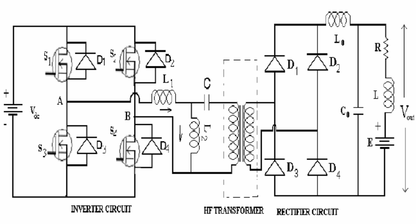 LLC-T series parallel resonant converter circuit