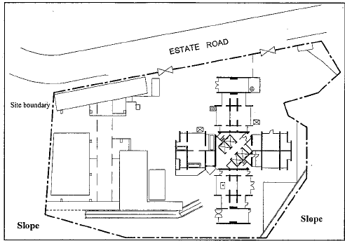 Site layout for residential development in urban area