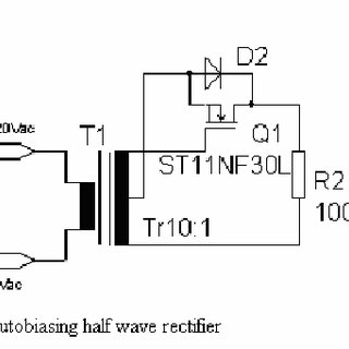 Single phase rectifier and MOSFET synchronous half wave